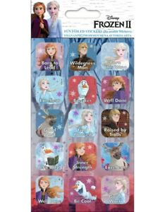 Frozen 2 Fun Foiled REWARD Stickers sheet Official Product 15 Stickers