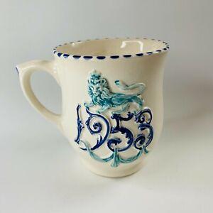 Rare Honiton Pottery Coronation Mug Commemorative Ware 1953