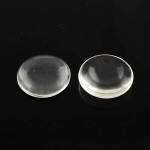 6 cabochons en verre  ronds  transparents dimension 30 mm