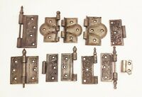 Vtg antique cast iron victorian ornate door hinge hinges lot 11pcs steeple tip