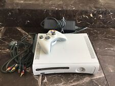 Working Microsoft X Box 360 White 20gb Console Power Cords Bundle Controller