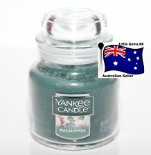 YANKEE CANDLE * Eucalyptus * SMALL GLASS JAR 3.7OZ SCENTED CANDLE