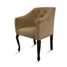 Armlehnstuhl OPERA Polster Stuhl Sessel Antik-Stil Beige Esszimmerstuhl