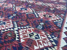 Antique Turkish Kilim Rug shabby vintage old wool country home Kelim 182x130cm