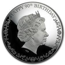 2016 Cook Islands 3 oz Silver Happy 90th Birthday Elizabeth II - SKU #96528
