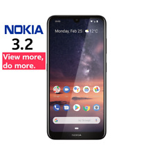 """Nokia 3.2 Unlocked 6.26"""" HD+ a-Si TFT LCD Face ID 2G/16GB in Black Free Delivery"""
