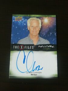 X Files Trading Card A-cc Signed By Chris Carter Upper Deck Autograph