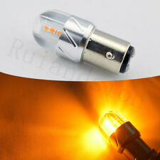 2x 3000K Amber 1157 7528 3030-SMD LED For Car Front Rear Turn Signal Light Bulbs