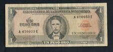 DOMINICAN REPUBLIC  1  PESO  ( 1964-73 )   PICK # 99a  FINE+.