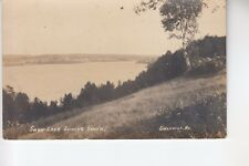 Real Photo Postcard Swan Lake looking South Swanville ME   712