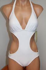 NWT CYN&LUCA Swimsuit One 1 Piece Monokini White Size S
