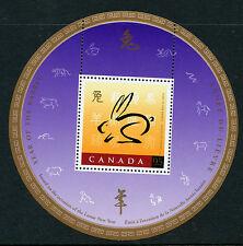 Weeda Canada 1768 VF MNH Souvenir Sheet, 1999 Year of the Rabbit issue CV $3