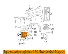 TOYOTA OEM Tundra Front Fender-Liner Splash Shield Extension Right 538050C011