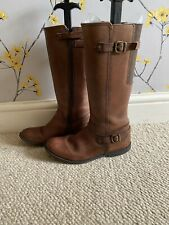 Girls Long Leather Boots By Startrite - Size 2.5F