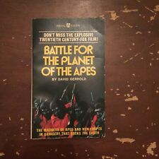 1973 Battle For The Planet Of The Apes by David Gerrold Paperback Book
