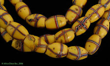 French Cross Venetian Trade Beads Yellow Old African