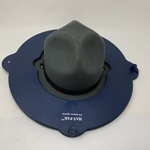 HAT-PAK Form & Size 6 7/8 Grey Stratton Self Forming Sheriff Trooper Hat 2001074