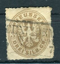 GERMANY PRUSSIA;   1861 early classic rouletted issue used 3sg. value