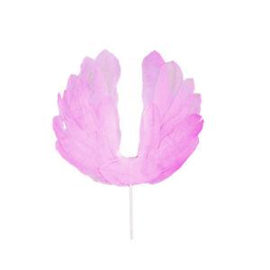 1Pcs Angel Wings Flag Cake Topper For Wedding Birthday Party Baking Dessert