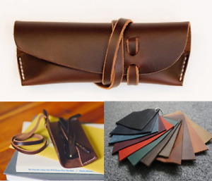 sunglasses bag Eyeglass Cases spectacles glasses cow Leather Customize A733