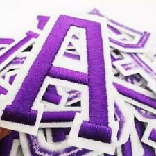 26 Iron on Letter Alphabet Patches Purple Green Embroidered for Clothing