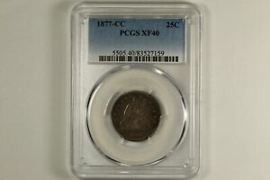1877-CC Seated Liberty Quarter PCGS XF40
