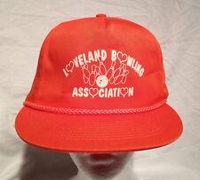 Classic Loveland Bowling Ball Snapback Cap Orange White Sweet Hat