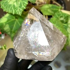 Herkimer Diamond Crystal Point w/ Pristine Tip Condition and Beautiful Rainbows