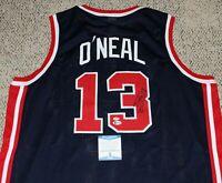 SHAQUILLE O'NEAL SIGNED TEAM USA BASKETBALL JERSEY BECKETT COA SHAQ AUTHENTIC