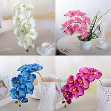 NEW DIY Artificial Butterfly Orchid Silk Flower Home Living Room Decoration