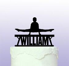 Personnalisé gymnastique poutre cake topper gym gymnaste