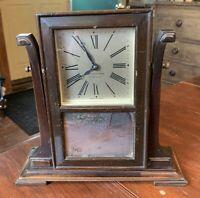 Antique Seth Thomas 4 Jewel Wood Swivel Clock