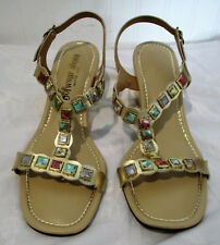 Vintage Womens Multi Colored Stone Sandals, Sofwear Shoes, Houston, Texas, 8.5