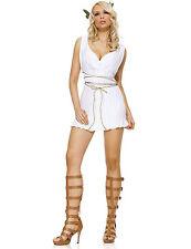 NWT SEXY GREEK GODDESS TOGA Dress & Wrap Halloween Cosplay Fantasy Costume M/L