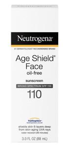 NEUTROGENA Age Shield Face Oil-Free Sunscreen SPF110 UVA/UVB | FREE UK POSTAGE