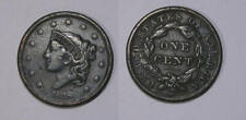 1838 Large Cent Vf+ Inv#373-3