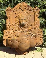 Wandbrunnen Wasserstelle Gartenbrunnen Nostalgie GussEisen Löwe 36kg Speier Rost