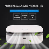 Freshener Air Cleaner Ozone Anion Generator USB Rechargeable Kitchen Auto Home