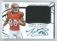 James Wright Bengals 2014 National Treasures Jersey Auto RC 16/99