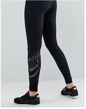 Nike Women's Sportswear Metallic Leggings Black/gold Large