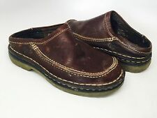 DR Doc MARTEN'S, Dark Brown LEATHER  SLIDE MULE Shoes, SIZE  4 Men's (women's 5)