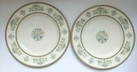 "Minton Henley 10 3/4"" Dinner Plate Vintage Fine Bone China S749 Set of 2"
