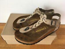 Birkenstock braided leather Kairo style sandal, size 40. UK 7 colour khaki used