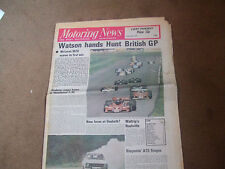 Motoring News 21 July 1977 British GP Silverstone F3 MG Midget Test ATS Rally