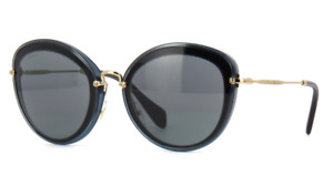 Miu Miu Sunglasses MU50RS 1AB9K1 54MM Sunglasses Grey Black / Grey Blue 54mm