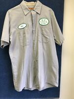 Vintage   Mechanic  Auto Shop Shirt Men's Medium  Short Sleeve