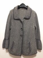 Marks & Spencer's Ladies Size 16 Rich Lambswool Blend Grey Cardigan Jacket