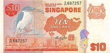 Singapore 10 Dollars 1979 XF pn 11a serial B/89 687257