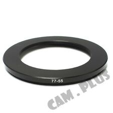 77-55mm Step-Down Metal Lens Adapter Filter Ring / 77mm Lens to 55mm Accessory