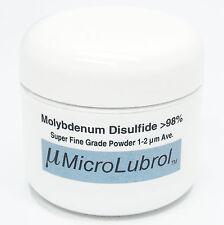 1 oz MOLYBDENUM DISULFIDE Moly MoS2 Powder SUPER FINE 1-2 micron BEST LUBE GRADE